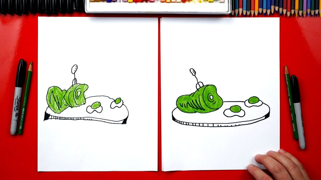 How To Draw Green Eggs And Ham