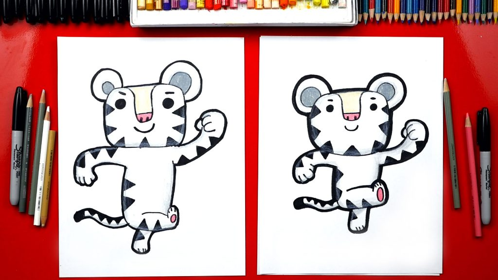 How To Draw Soohorang The Pyeongchang Winter Olympics Mascot