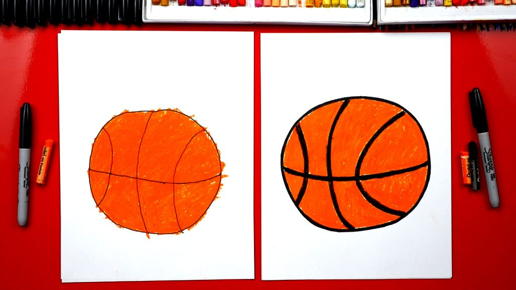 How To Draw A Basketball – For Young Artists