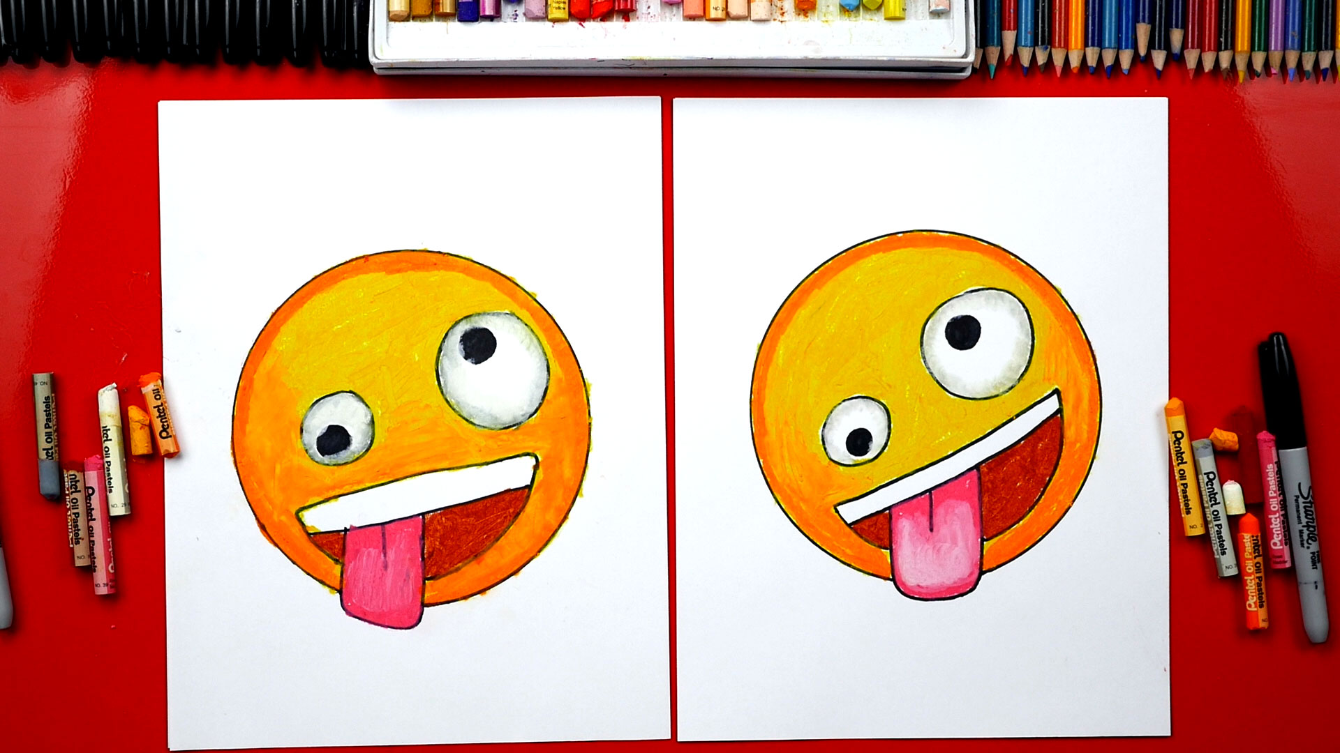 How To Draw The Crazy Face Emoji Art For Kids Hub