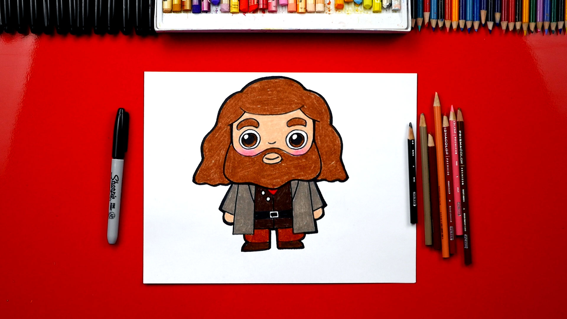 How To Draw Hagrid From Harry Potter Art For Kids Hub