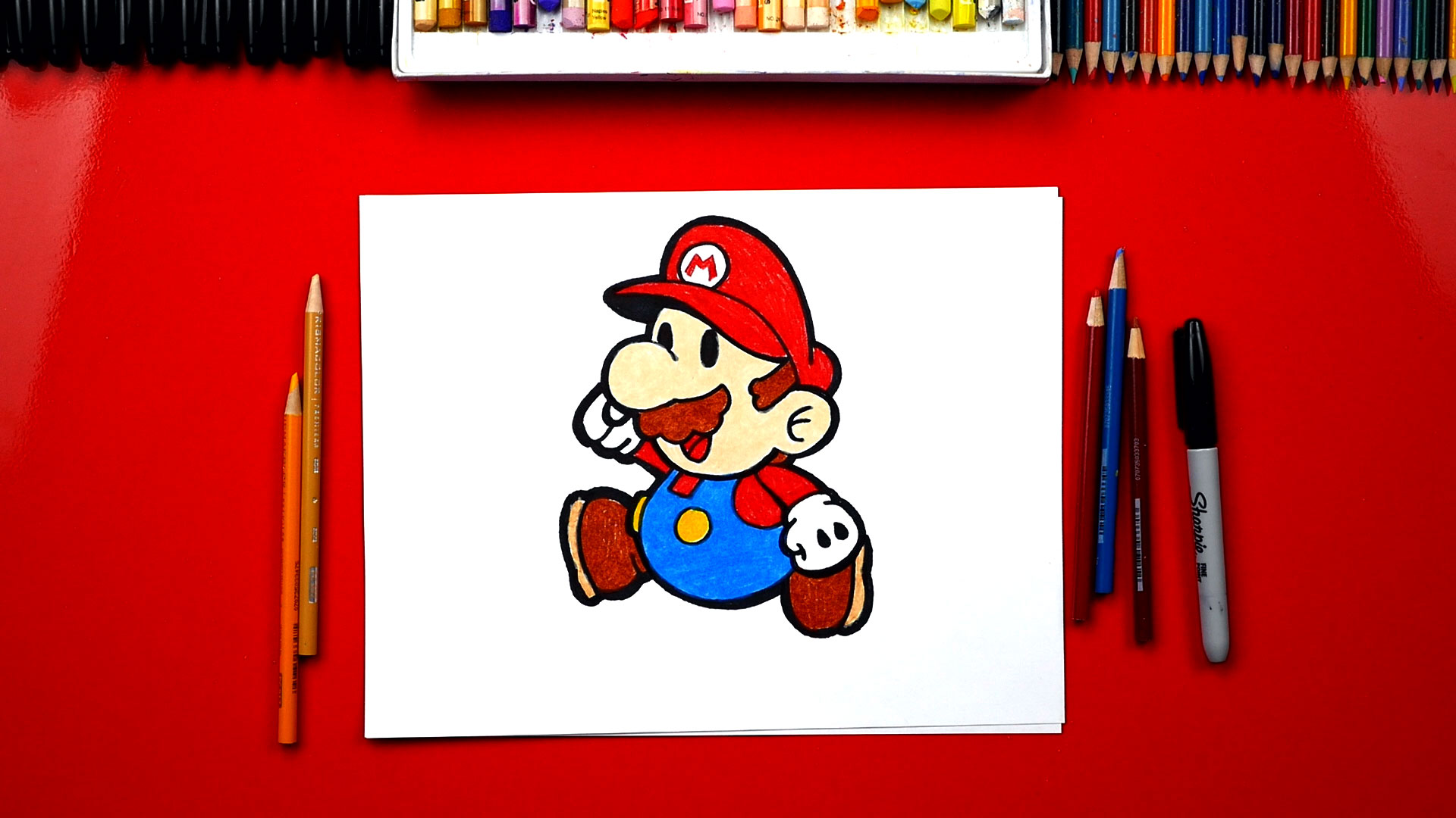 Mario Characters Draw Easy Kids