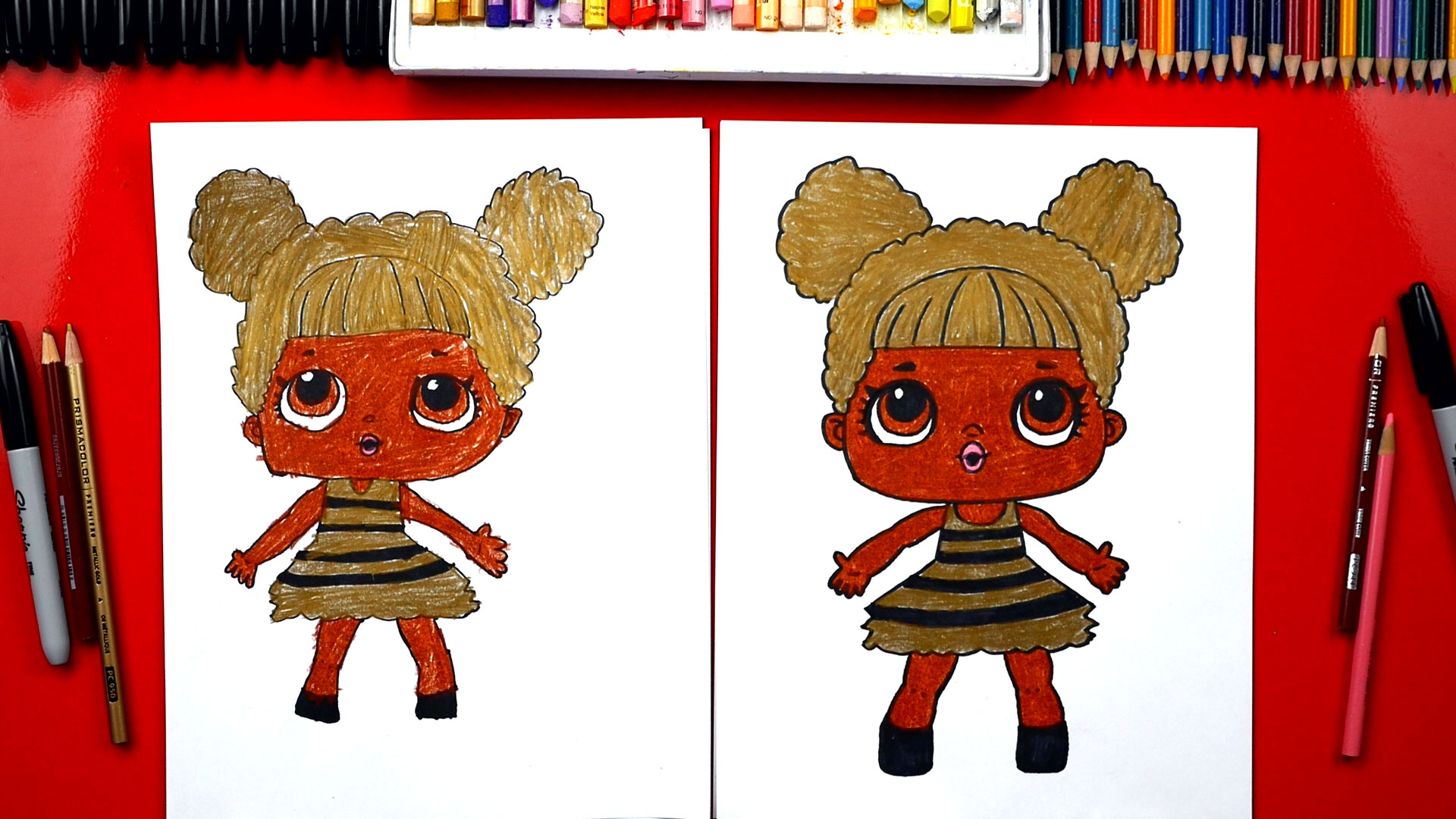 How To Draw Queen Bee Lol Surprise Art For Kids Hub