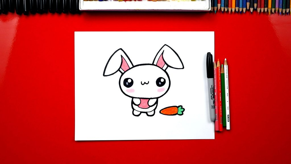How To Draw The Cutest Easter Bunny