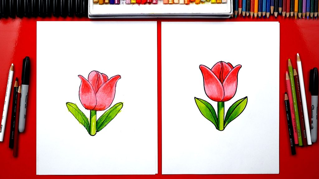 How To Draw The Tulip Emoji