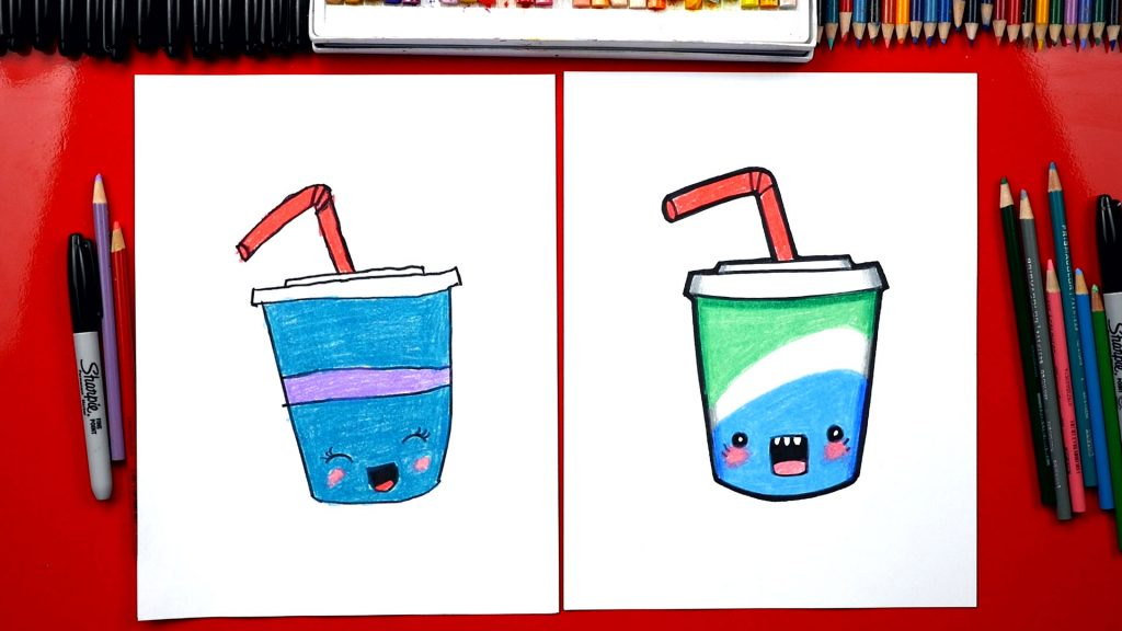 How To Draw A Funny Soda