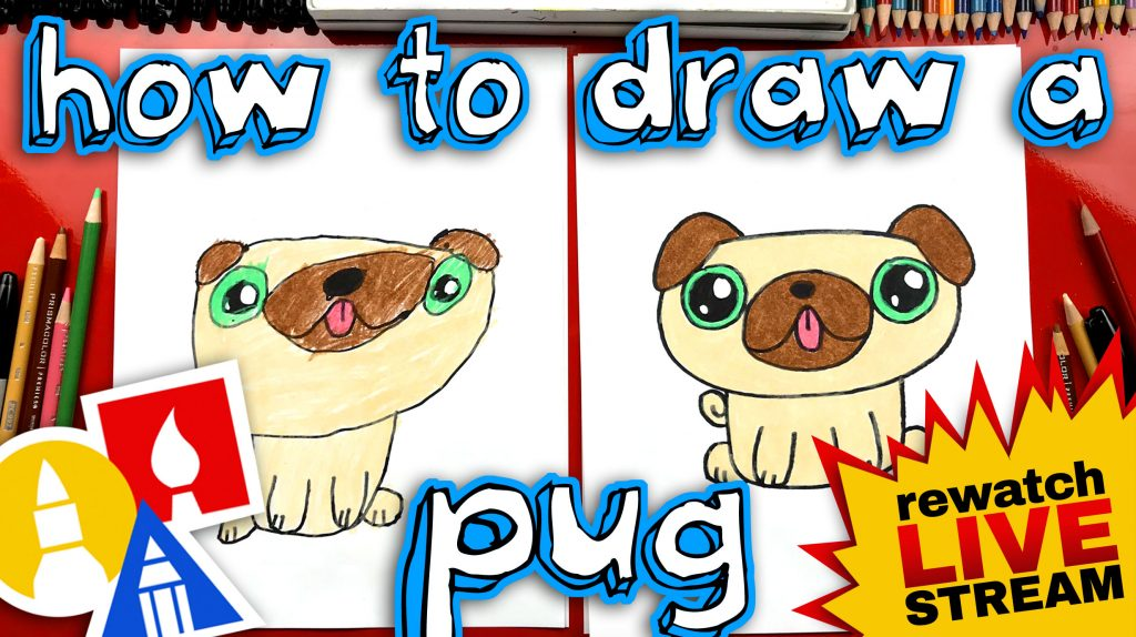 How To Draw A Pug Kawaii