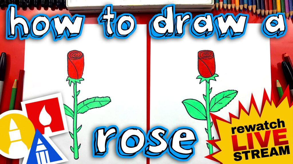 How To Draw A Rose For Mother's Day