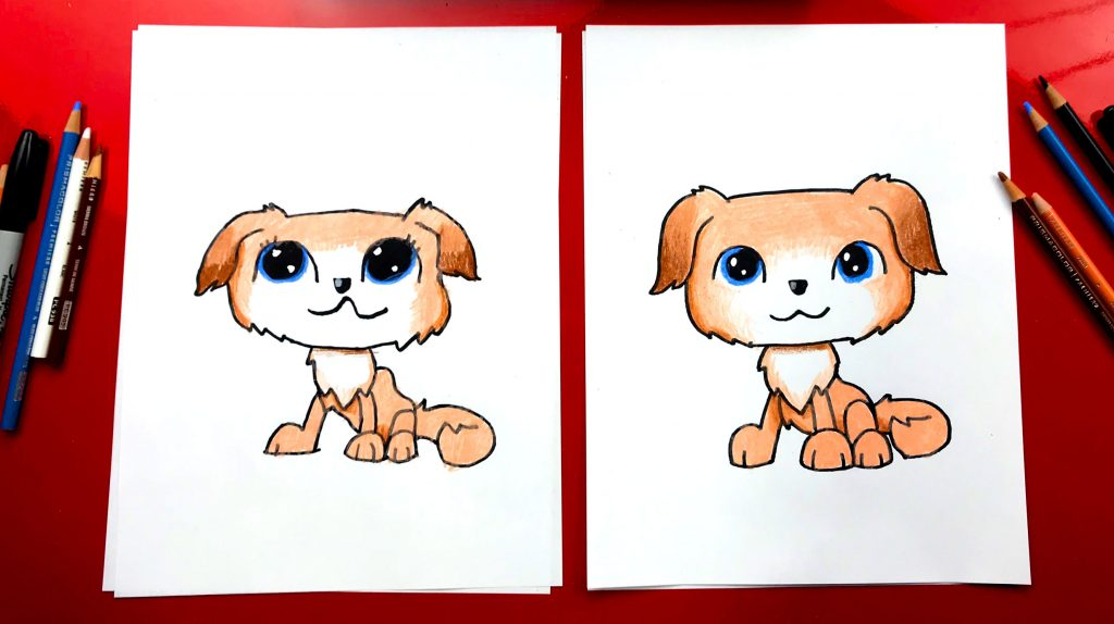 How To Draw Littlest Pet Shop – Golden Retriever