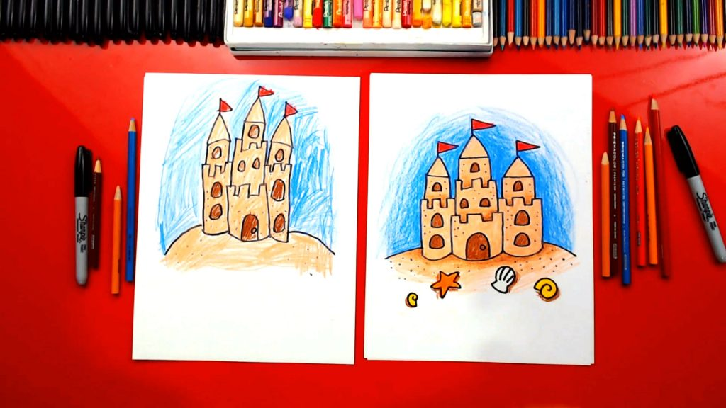 How To Draw A Sandcastle