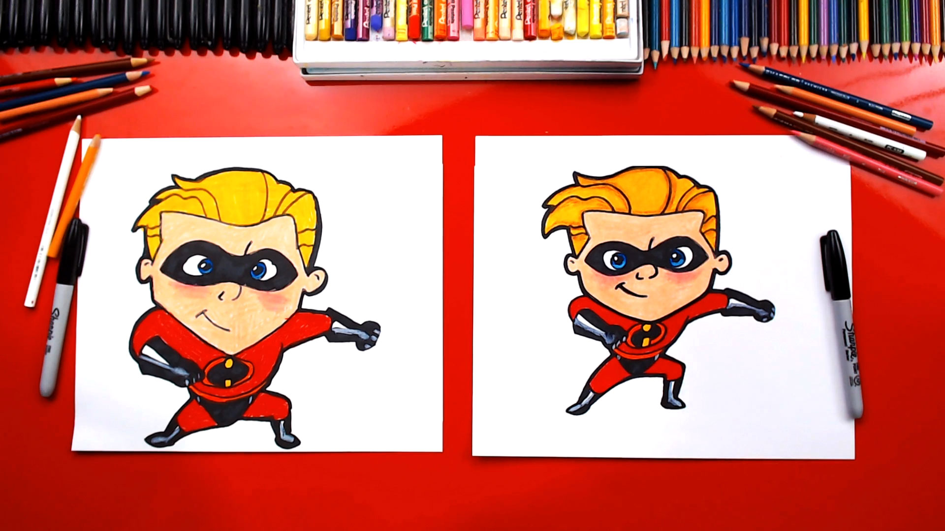 How To Draw Dash From Disney Incredibles 2 - Art For Kids ...
