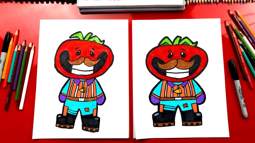 How To Draw Tomato Head From Fortnite
