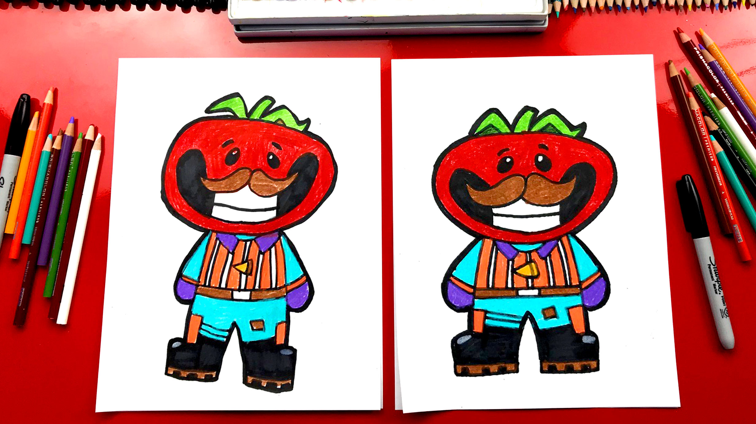 How To Draw Tomato Head From Fortnite Art For Kids Hub