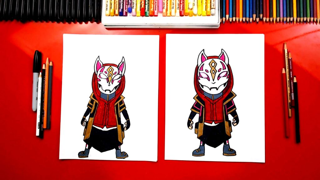 how to draw drift from fortnite - fortnite llama pickaxe drawing