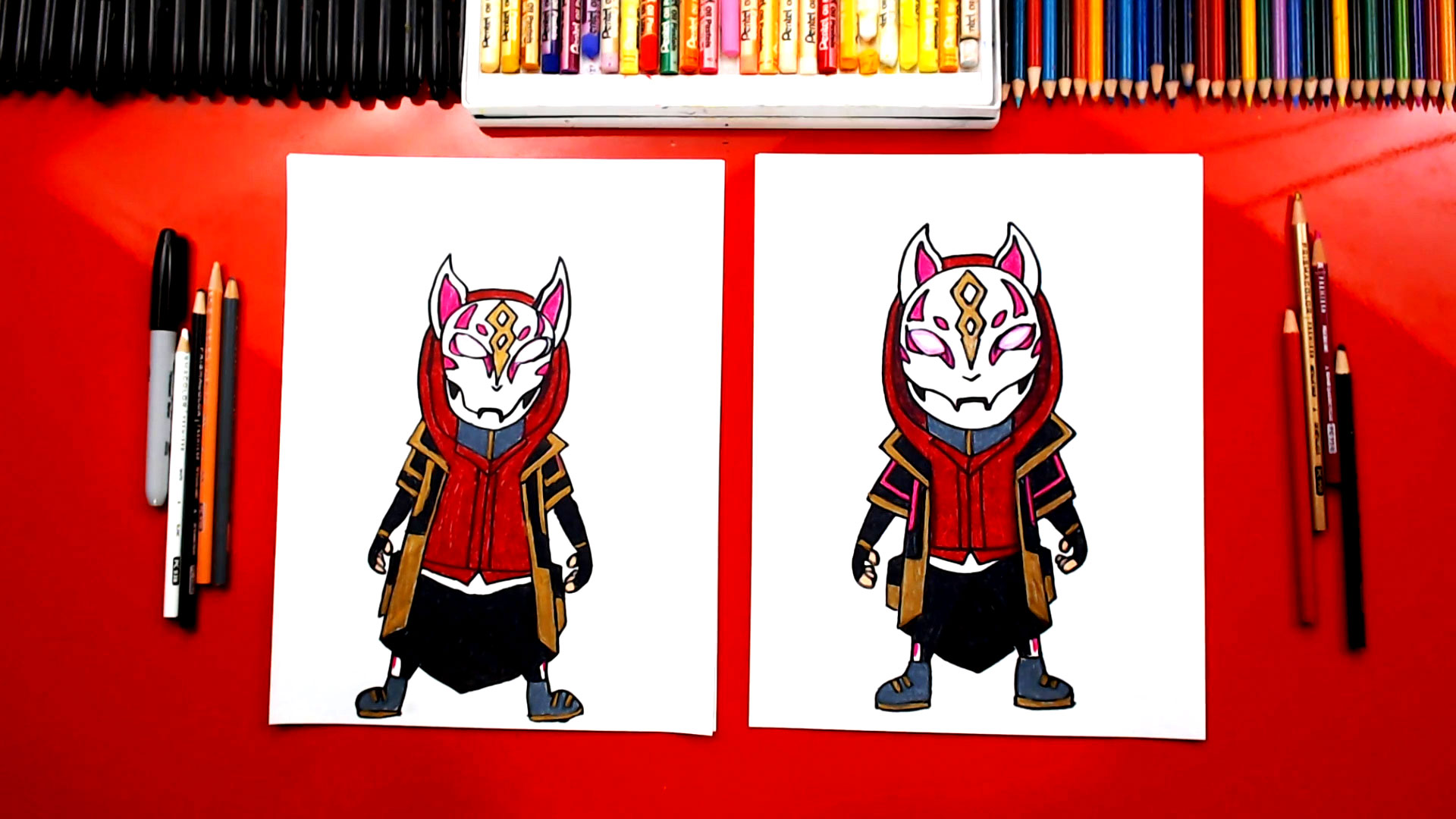 How To Draw Drift From Fortnite Art For Kids Hub