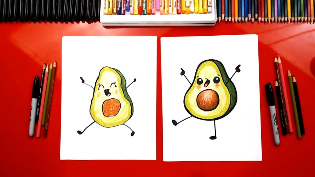 How To Draw A Funny Avocado