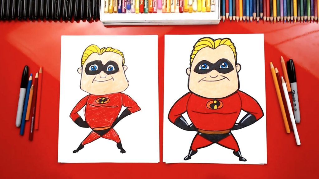 How To Draw Mr. Incredible From Disney Incredibles 2