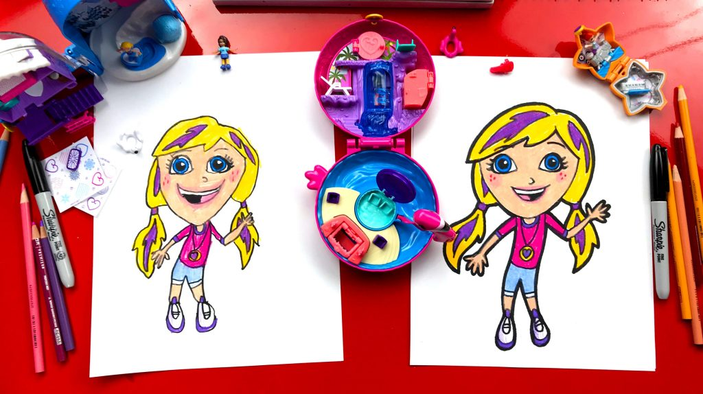 How To Draw Polly Pocket From Mattel