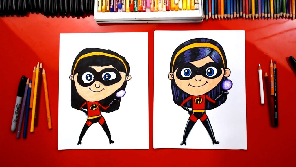 How To Draw Violet From Disney Incredibles 2