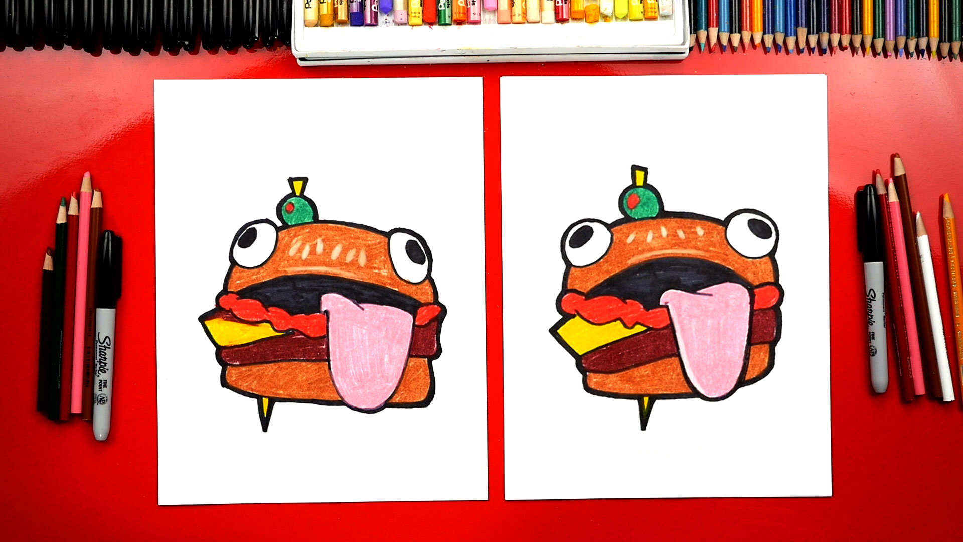 How To Draw The Fortnite Durr Burger Art For Kids Hub