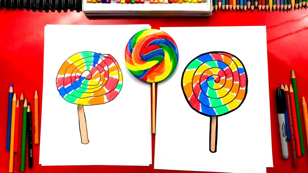 How To Draw A Giant Lollipop