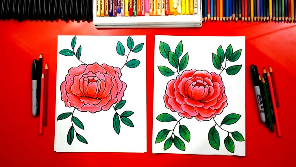 How To Draw A Peony Flower
