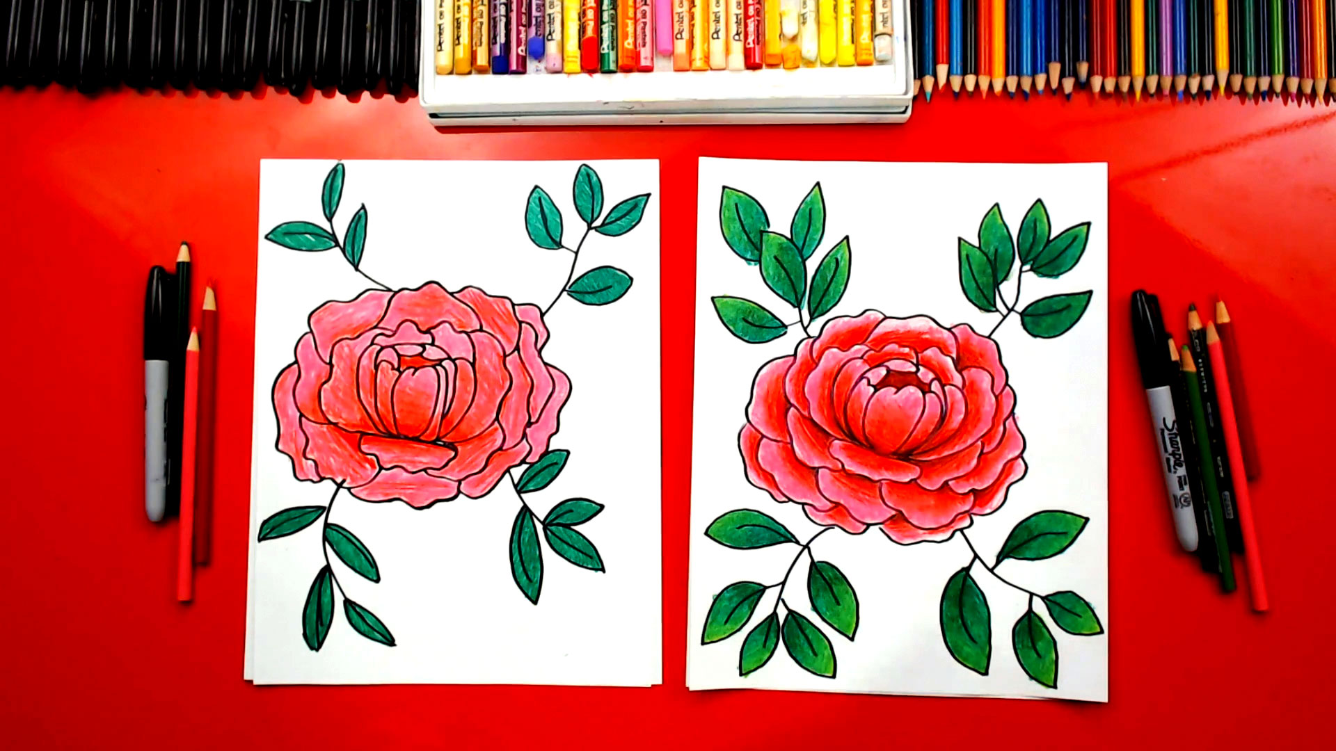 How To Draw A Peony Flower - Art For Kids Hub