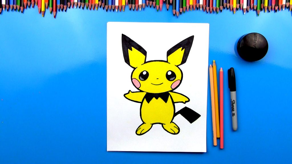 How To Draw Pichu Pokemon
