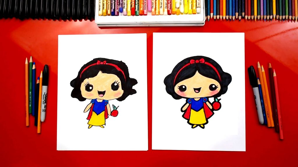 How To Draw Cute Snow White Kawaii