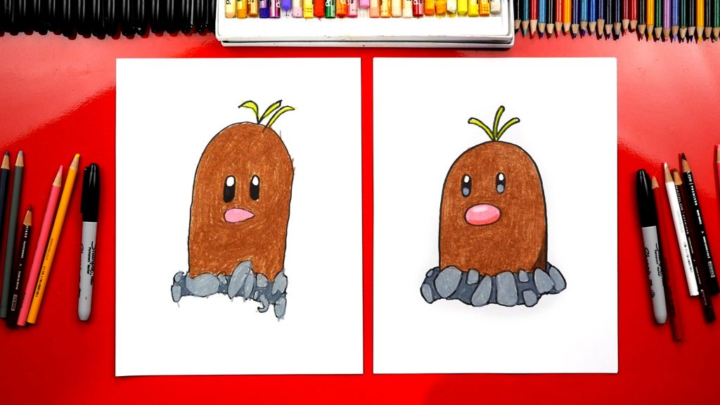 How To Draw Diglett Pokemon