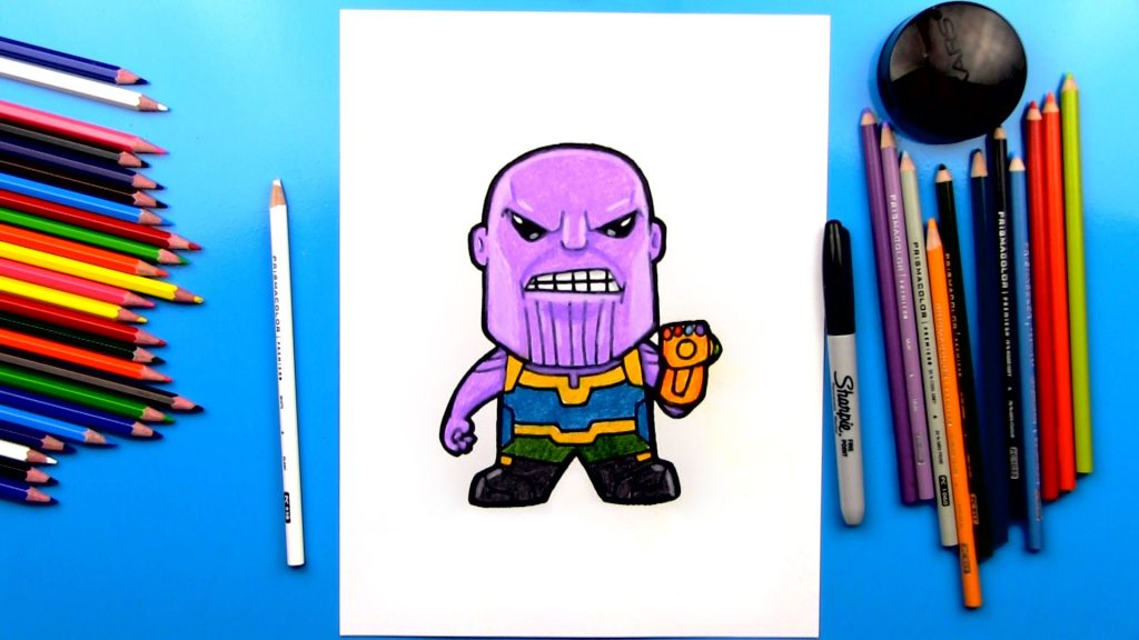 How To Draw Thanos From Infinity War