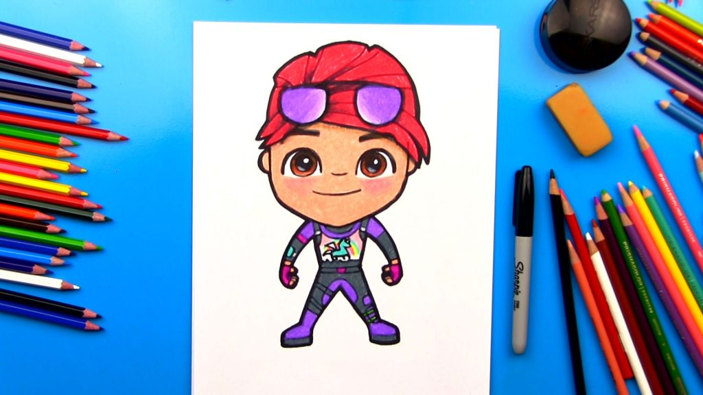 How To Draw Brite Bomber From Fortnite