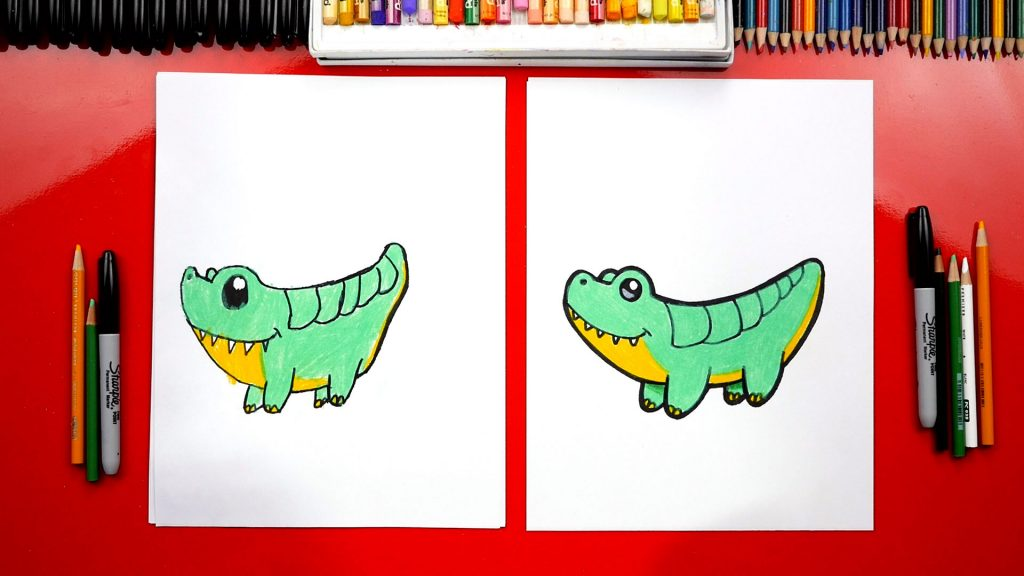 How To Draw A Cartoon Alligator