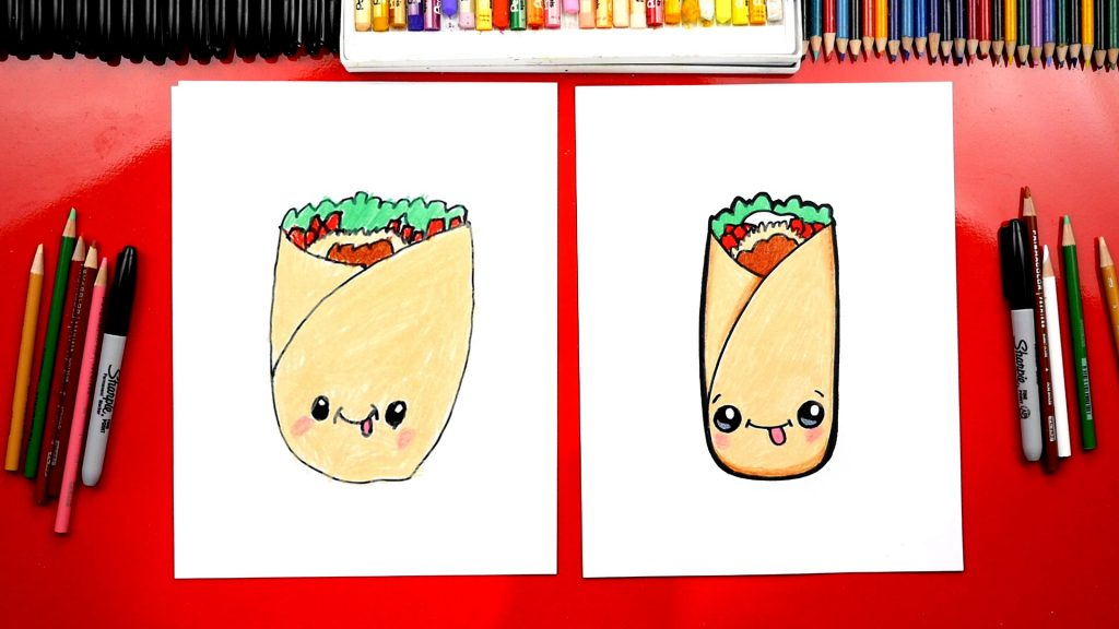 Cute Food Drawings For Kids