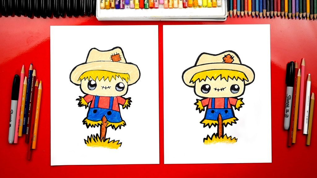 How To Draw A Funny Scarecrow
