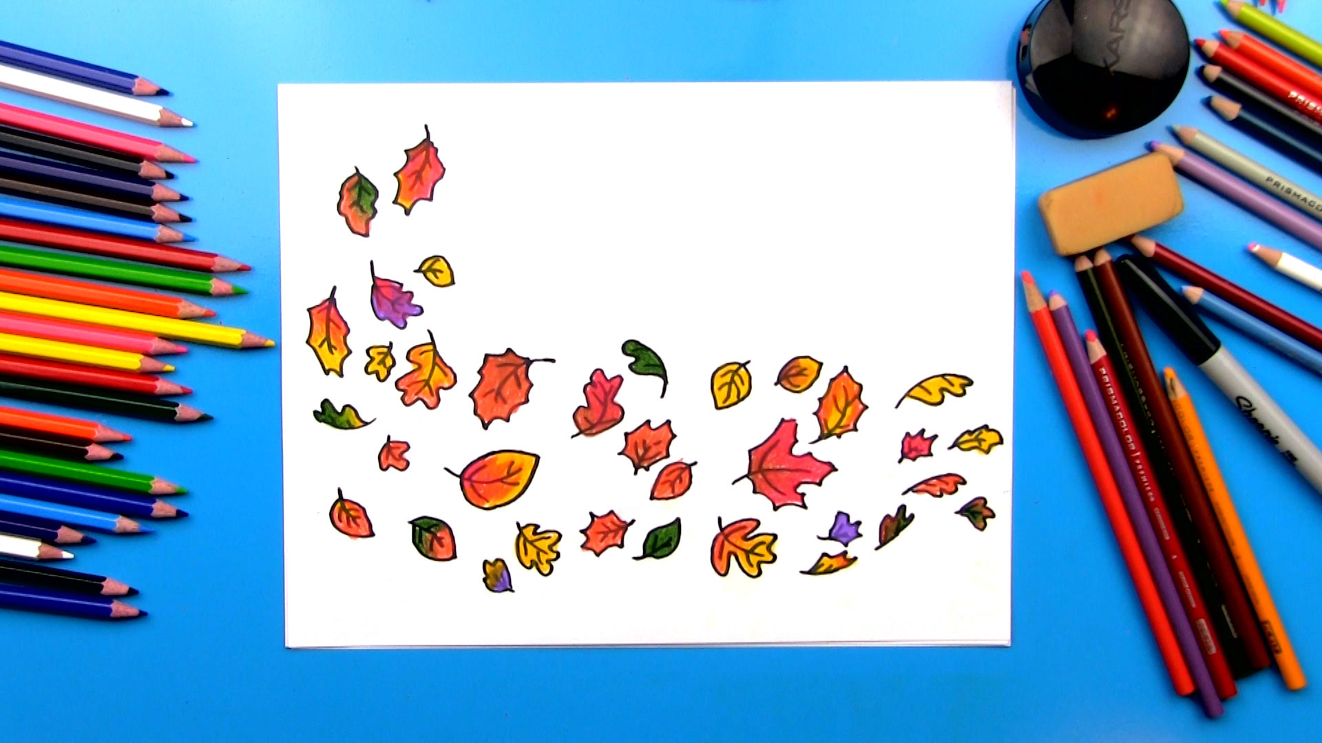 How To Draw Leaves Blowing In The Wind Art For Kids Hub