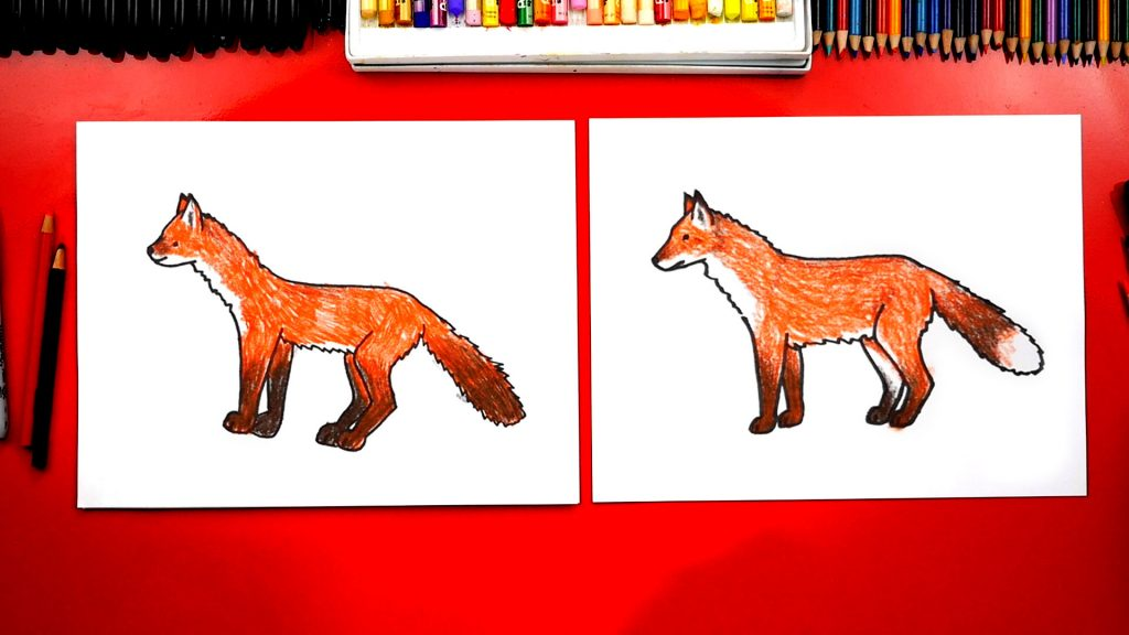 How To Draw A Realistic Fox