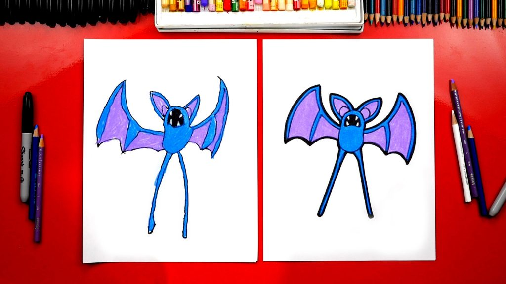 How To Draw A Zubat From Pokemon