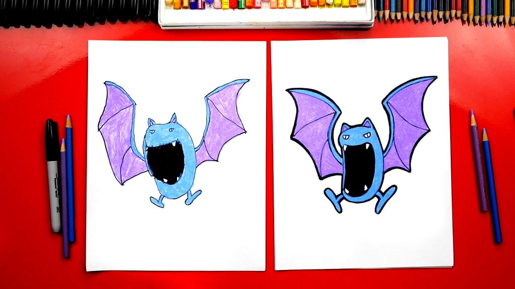How To Draw A Golbat Pokemon