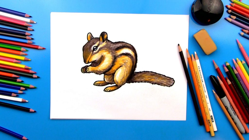 How To Draw A Realistic Chipmunk