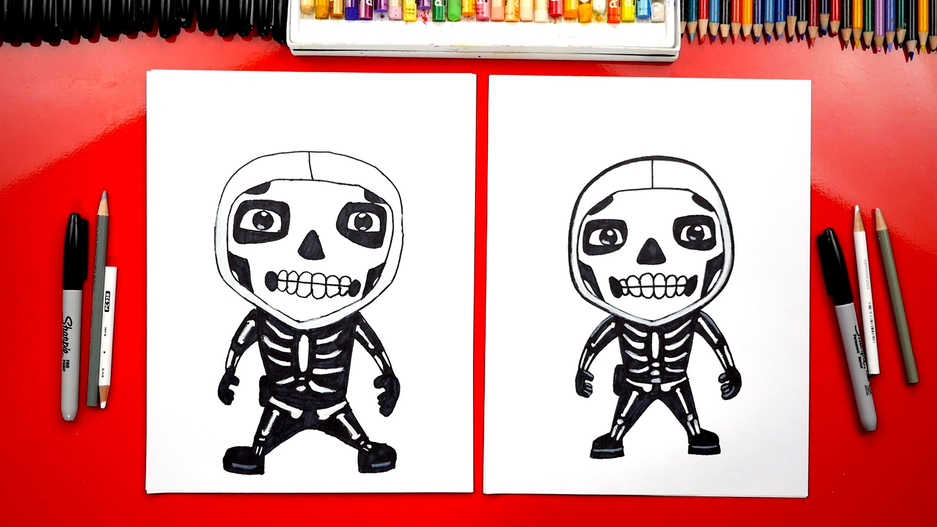 How To Draw The Skull Trooper From Fortnite Art For Kids