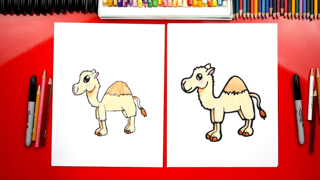 How To Draw A Cartoon Camel