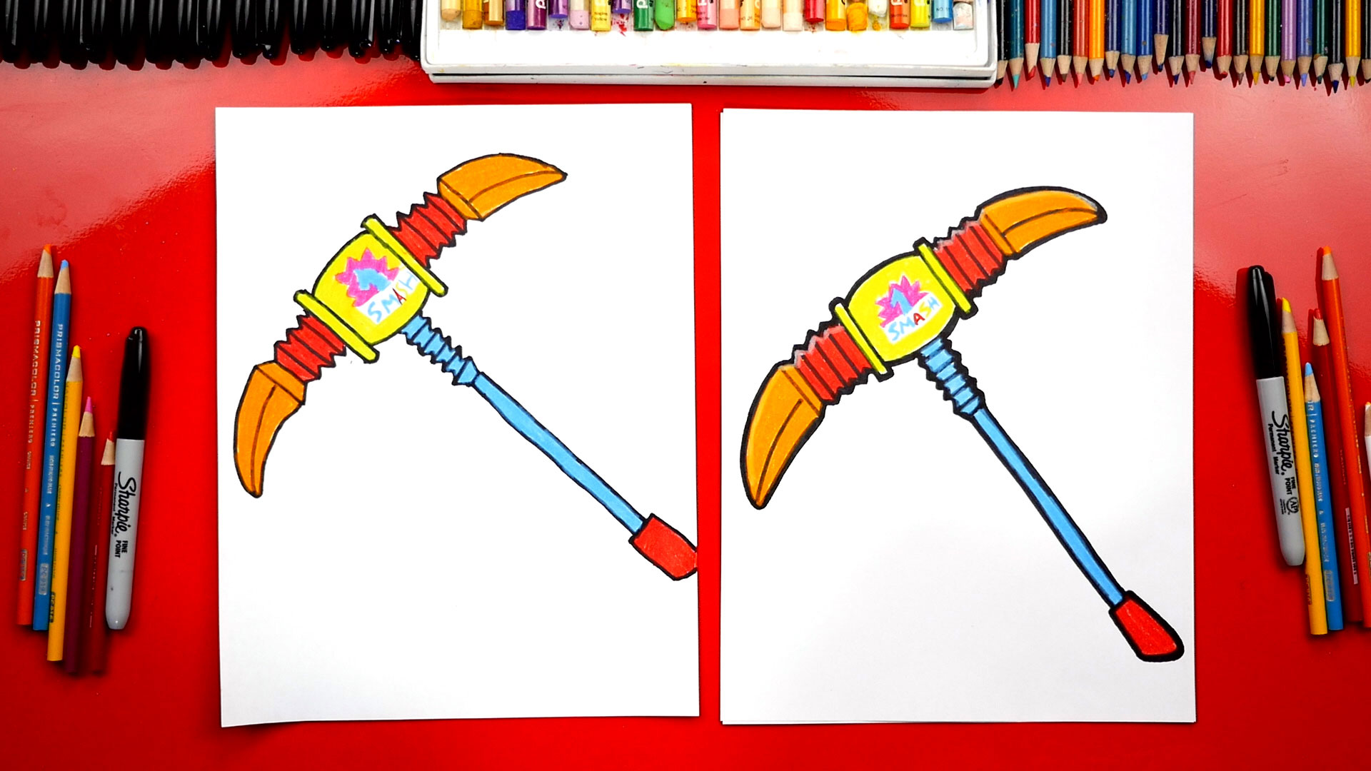 How To Draw Pip Squeak Pickaxe From Fortnite Art For Kids