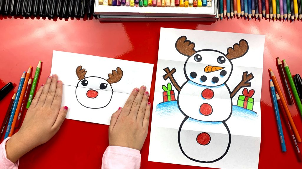 ab6d4dfe5b0a4d How To Draw A Snowman Folding Surprise