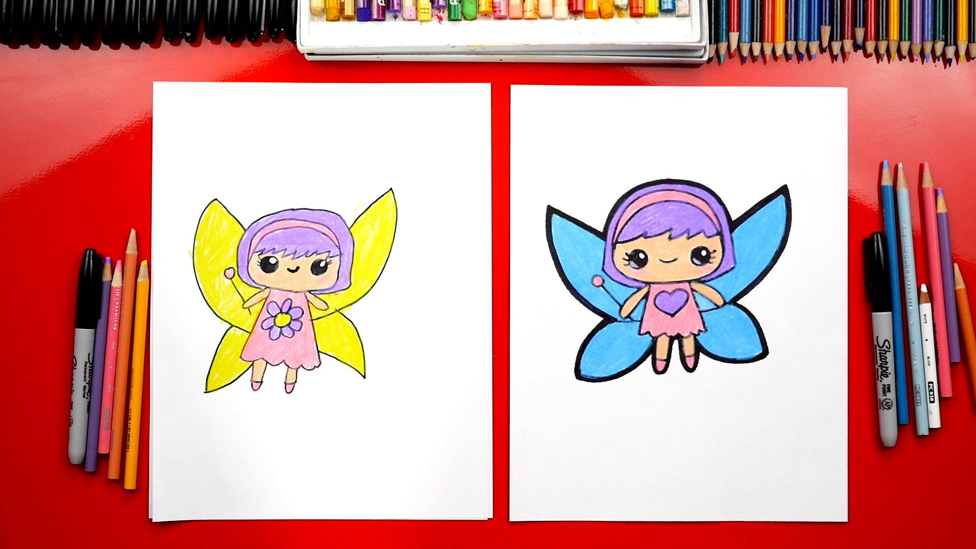 How To Draw A Cute Fairy Art For Kids Hub