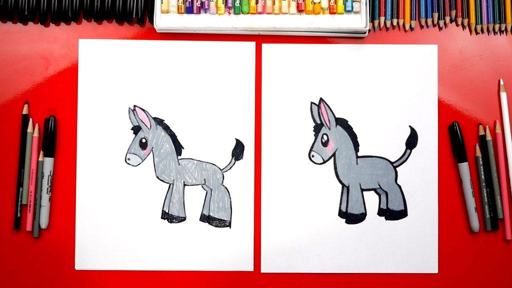 How To Draw A Donkey For The Nativity
