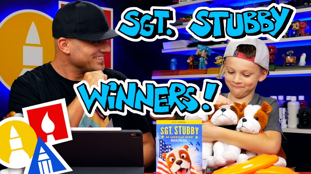 Sgt. Stubby Giveaway Winners!