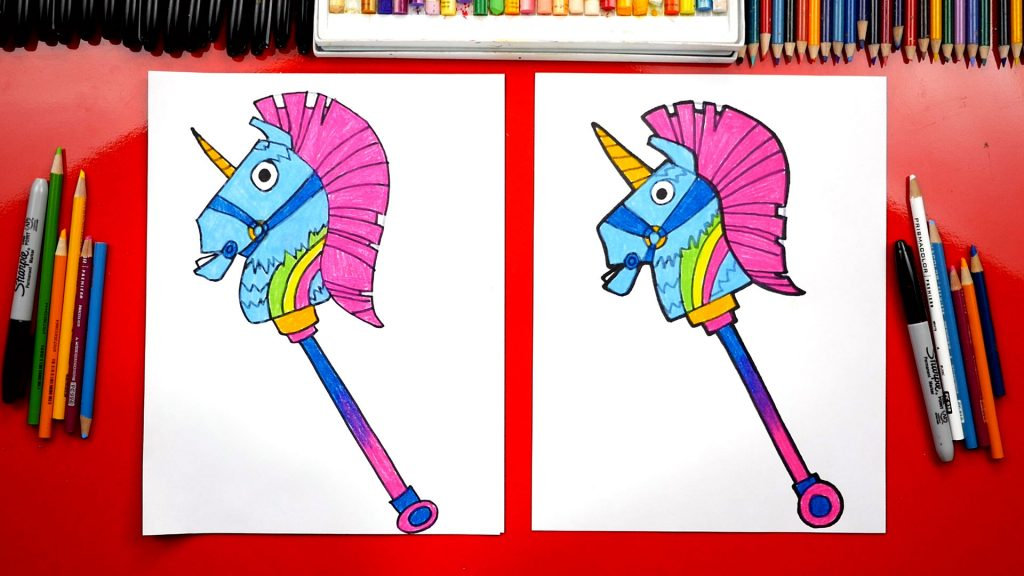 How To Draw Fortnite Rainbow Smash Pickaxe