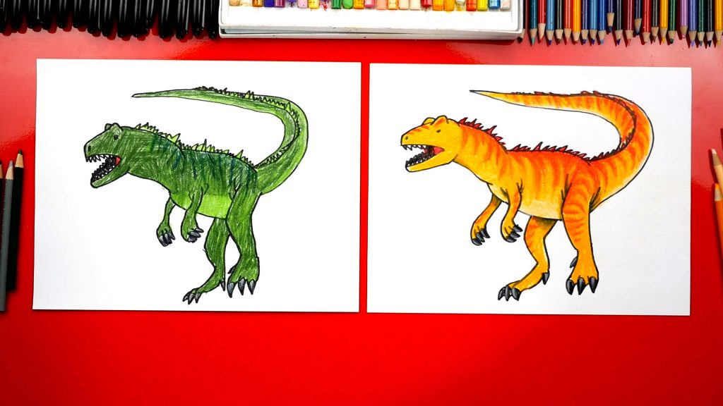 How To Draw An Allosaurus – SPOTLIGHT!