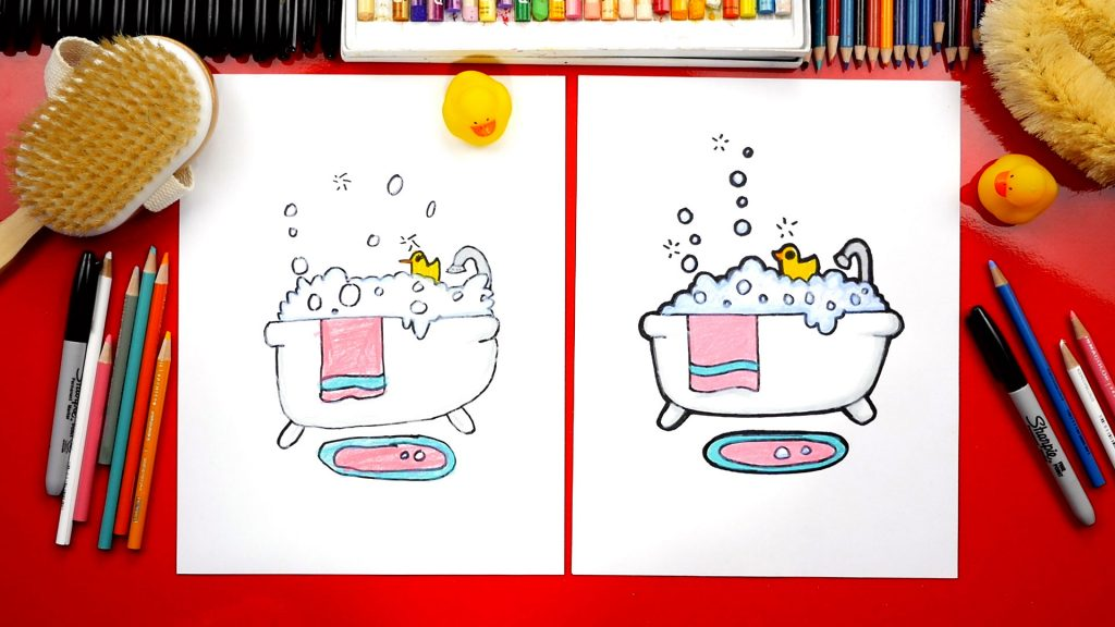 How To Draw A Bubble Bath